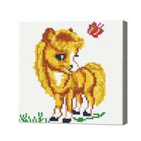 Очаровательная лошадка, 20x20 см, алмазная мозаика