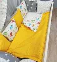 Комплект постельного белья в кроватку Pampy Grey/Yellow