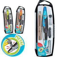 Set geometric compas MAPED Metal Open, 5 piese