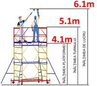 купить Передвижная модульная вышка ВСР (1,2x2,0) 1+3 в Кишинёве