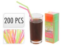 купить Набор соломок для коктейля со сгибом 200шт, одноцветные в Кишинёве