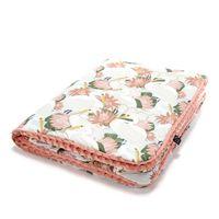 Одеялко La Millou Heron In Pink Lotus / Papaya 100x80 см