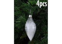 купить Набор конус стеклянный с перьями 4 шт в Кишинёве