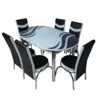 Овальный гарнитур 1741 + 6 стульев