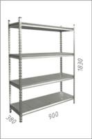 купить Стеллаж металлический с металлической плитой 900x380x1830 мм, 4 полок /MB в Кишинёве
