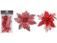 """Украшения """"Цветы рождественские"""" 2шт, D12.5cm, красные"""