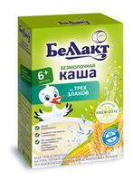 Беллакт Каша 3 злака кукуруза, рис, пшеница, 6+мес, 200 гр