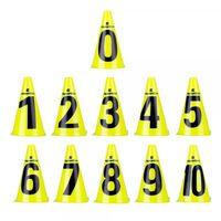 Конусы тренировочные inSPORTline Numeric 23cm 13205 (2600)