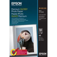 EPSON Premium Glossy Photo Paper, A4, 50 Sheets