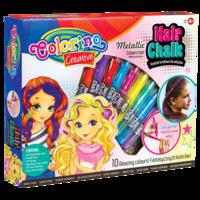 Подарочный набор, мелки для волос + аксессуары Colorino