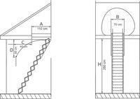 Лестница Standard Metal 13090005.3 (70x110)