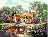 Pictura pe numere 40x50 Casa bunicii VA0204