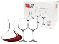 Set decanter si 2 pahar pentru vin rosu Aria