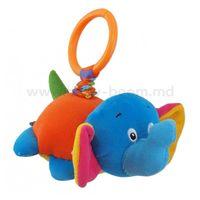 "Baby Mix EF-TE-8203G-13E Игрушка для путешествия c вибрацией ""Слон""."