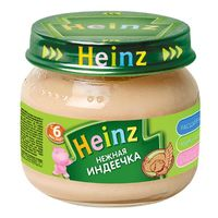 Heinz пюре нежная индеечка 6+мес. 80г