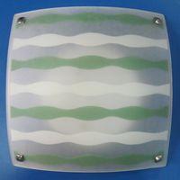 HF-MD1602 plafon patrat 2*E27 alb-verde HF