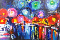 Oil Paintings City lights (ABS19001019)