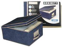 Коробка для хранения Blue 50X40X25cm с крышкой, тканевая