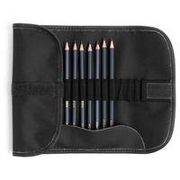 Set de creioane un ceronograf. Graf'Art MALEVICH, 8 buc., Răsucit, negru
