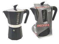Кофеварка на 6 чашки Pedrini, алюминиевая антрацит