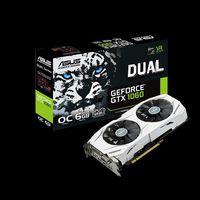 ASUS DUAL-GTX1060-O6G, GeForce GTX1060 6GB GDDR5, 192-bit