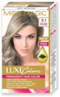 Vopsea p/u păr, SOLVEX Miss Magic Luxe Colors, 108 ml., 9.1 - Blond natural-cenușiu