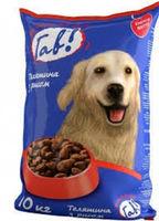 Гав! Корм для собак ,мясо+рис ,10кг