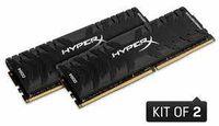 16 ГБ DDR4-4000 МГц Kingston HyperX Predator (комплект из 2x8 ГБ) (HX440C19PB4K2 / 16), CL19-23-23, 1,35 В, черный