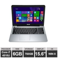 "Ноутбук Asus X555L (15,6"" i7 4510U 6GB RAM 500GB HDGraphics Win8) Black"