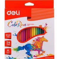 DELI Карандаши цветные DELI Run, 24 цвета