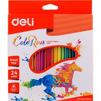 DELI Карандаши цветные DELI Run, 24 цветов