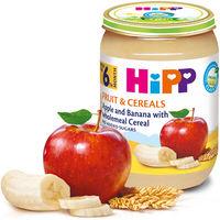 Piure de mere, banane cu cereale integrale Hipp (6 luni+), 190g