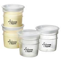 Tommee Tippee комплект контейнеров для хранения питания и молока, 4шт
