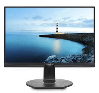 """23.8"""" Philips """"241B7QPJEB"""", Black (IPS, 1920x1080, 5ms, 250cd, LED20M:1, DP,DVI, USB,Spk, HAS/Pivot) (23.8"""" IPS LED, 1920x1080 Full-HD, 0.275mm, 5ms GTG, 250cd/m², DCR 20 Mln:1 (1000:1), 16.7M Colors, 178°/178° @CR>10, 30-83 kHz(H)/56-76 Hz(V), DisplayPort 1.2 + HDMI 1.4+ Analog D-Sub, Stereo Audio-In, Headphone-Out, Built-in speakers 2Wx2, USB 3.0 x2-Hub, Built-in PSU, HAS 130mm, Tilt: -5°/+20°, Swivel +/-175°, Pivot, VESA Mount 100x100, Flicker-free, PowerSensor, Black)"""
