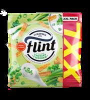 Сухарики Flint 150г со вкусом сметаны и зелени