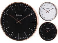 Часы настенные круглые D30cm, корпус медный цвет