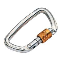 Карабин стальной Climbing Technology D-shape Steel SG, 50 kN, key-lock, 3C476
