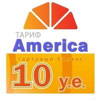 Карточка Америка 10$ Mini, Micro, Nano SIM, ST10DA
