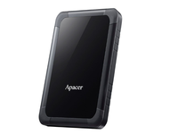 "1.0TB (USB3.1) 2.5"" Apacer AC532 Shockproof Portable Hard Drive, Black, White (AP1TBAC532B-1)"
