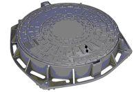 купить Люк чугунный dn.600 EN-124 C250 36 кг с замком N  (600x805x100) в Кишинёве
