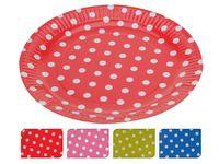 Набор тарелок одноразовых бумажных 10шт, D23cm