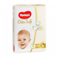 Huggies Scutece Elite Soft 3, 5-9 kg, 80 buc.