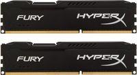 16Gb (Kit of 2*8GB) DDR3-1600  Kingston HyperX® FURY DDR3 (Dual Channel Kit), PC12800, CL10, 1.5V,  Auto-overclocking, Asymmetric BLACK heat spreader