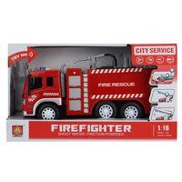 1:16 Инерционная Пожарная машина с водяной помпой (свет / звук)