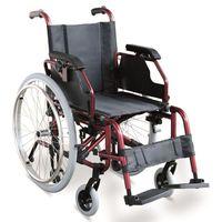 Складное инвалидное кресло с откидными подлокотниками и сьемными опорами для ног