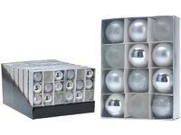 Набор шаров 12X50mm, серебряные, в коробке