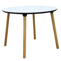 купить Стол с деревянной поверхностью и деревянными ножками, 1000x750 мм, белый в Кишинёве