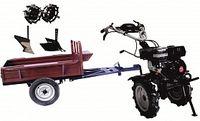 Набор мотоблок TECHNOWORKER HB 700RS ECO+Прицеп RK500 + плуг простой + плуг регулируемый + металлические колеса 4*8