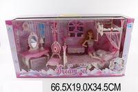 Кукла с набором мебели