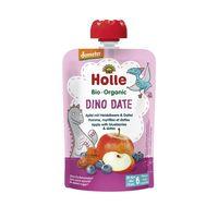 Piure de mere, afine și curmale Holle Bio Organic Dino Date (6 luni+), 100g